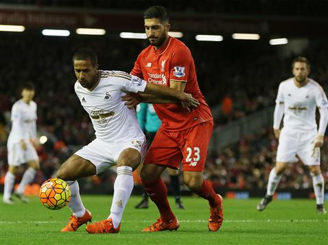 Swansea were much improved at Anfield on Sunday, but still unable to pick up any points. (Photo: Swansea City AFC)