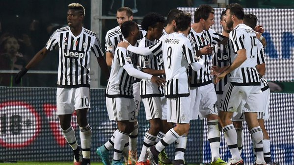 It was an emphatic win in the end for Juventus. (Photo: Fox Sports)