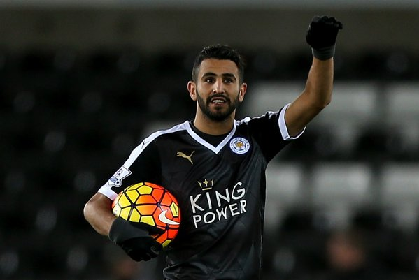Mahrez was perhaps an unsurprising target for Williams, with his splendid performance the reason for Swansea's defeat. (Photo: Premier League)