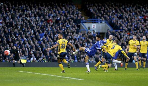 Costa anota el 1-0 ante el Scunthorpe en partido de FA Cup | Foto: Chelsea