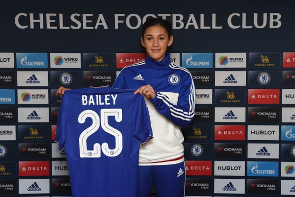 Jade Bailey adds depth to the team in midfield. (Photo: Chelsea LFC)