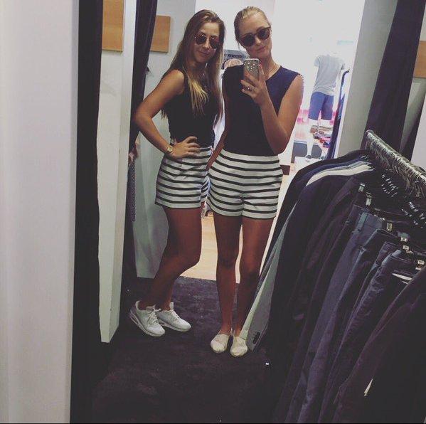 Shopping spree with Bencic | Photo courtesy of: Kristina Mladenovic