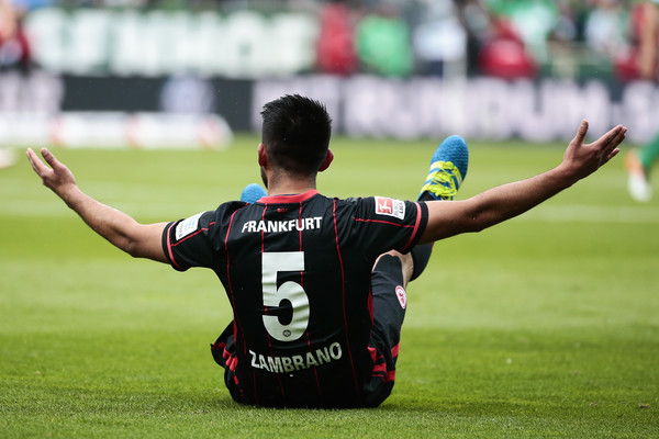 Carlos Zambrano has been a pantomime figure in the Bundesliga over recent years. | Image credit: Oliver Hardt/Bongarts