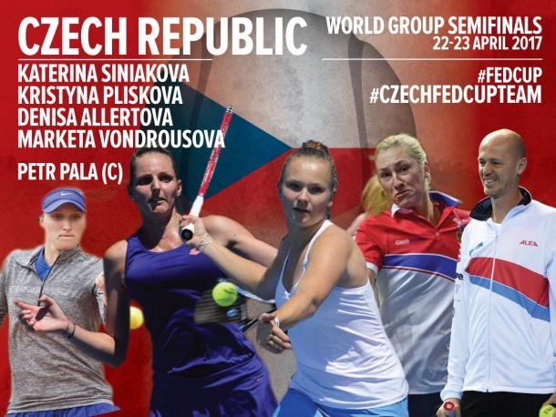 Czech team nominations. Photo credit: Fed Cup.