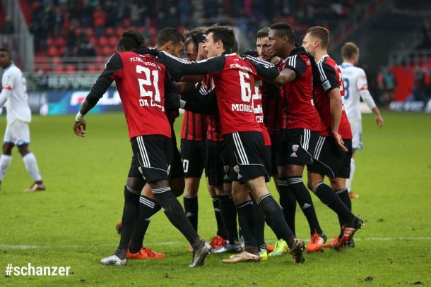 Celebración del gol del Ingolstadt | Foto: FC Ingolstadt 04