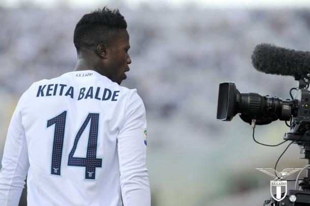 Baldé ante la Fiorentina | Foto: SS Lazio