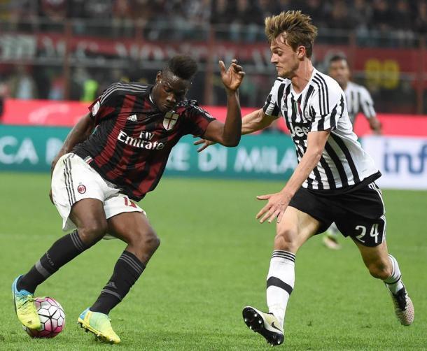 Balotelli e Rugani. Fonte: Ansa.