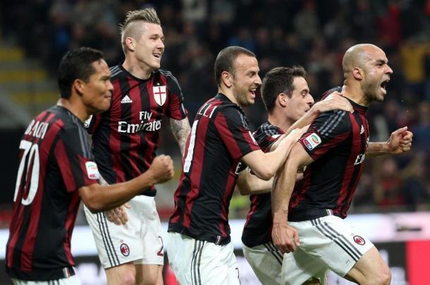Alex dopo il gol alla Juventus. Fonte: Ansa.