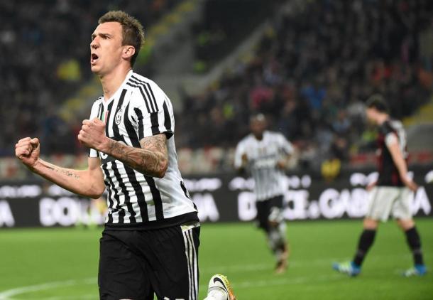 Mario Mandzukic segna ai rossoneri. Fonte: Ansa.
