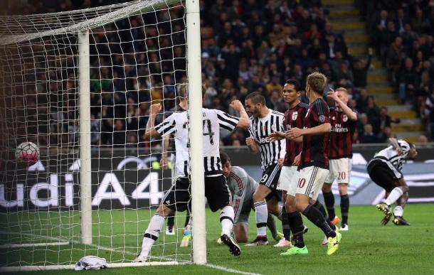Il gol decisivo siglato da Pogba nell'ultimo match giocato dalle due squadre. Fonte: Ansa.