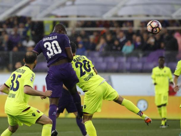 Il gol di Babacar. Foto: Sport Mediaset