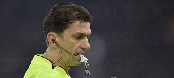 Tagliavento dirigiendo un encuentro de esta temporada | Foto: SS Lazio
