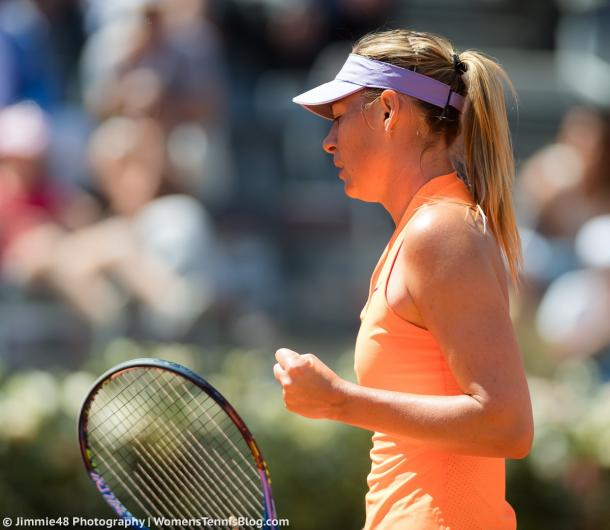 Maria Sharapova celebrates winning a point | Photo: Jimmie48 Tennis Photography