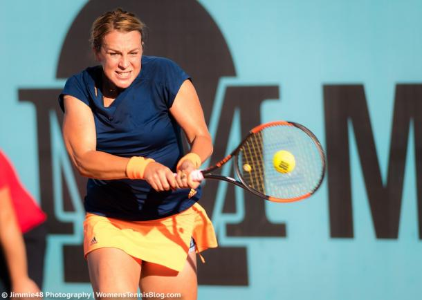 Anastasia Pavlyuchenkova in action at the Mutua Madrid Open | Photo: Jimmie48 Tennis Photography