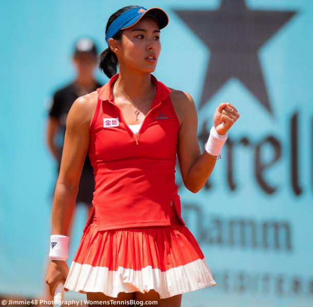 Wang Qiang failed to take advantage of her leads today | Photo: Jimmie48 Tennis Photography