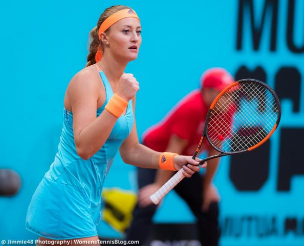 Mladenovic wraps up the first set | Photo: Jimmie48 Tennis Photography