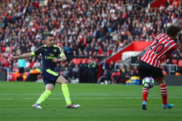 Ramsey in azione. | Fonte immagine: Twitter @Arsenal
