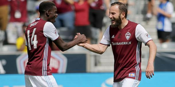 Shkëlzen Gashi was the heart of the Rapids' rejuvenated attack | Source: Mike Humphries-USA TODAY Sports