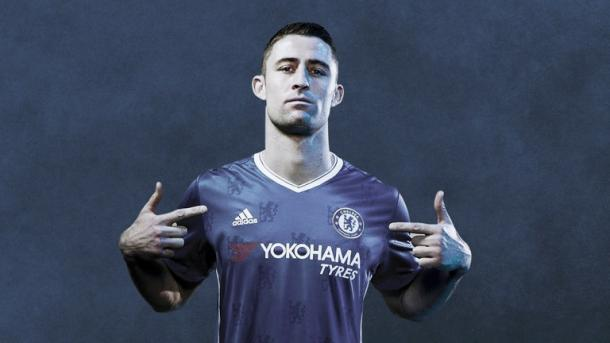 Above: Gary Cahill modelling Chelsea's new kit for the 2016/17 season | Photo: Adidas