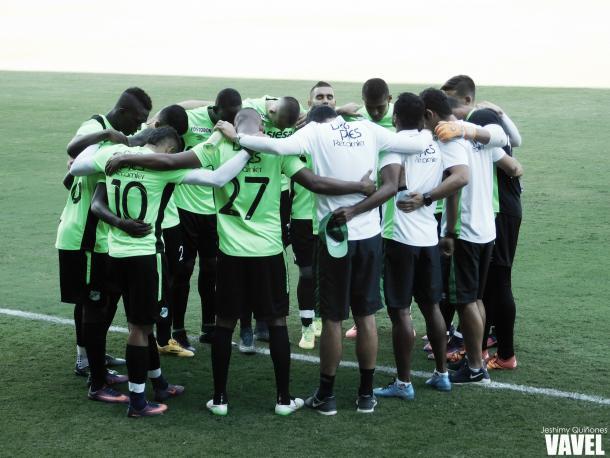 Jugadores del primer equipo del Cali en la primera práctica | Foto: Jeshimy Quiñones