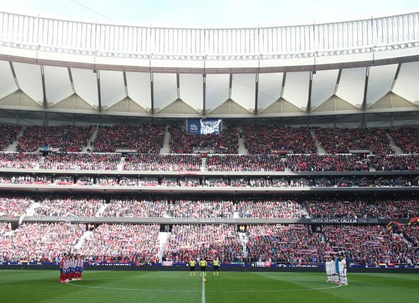 Sentido homenaje a Calleja, fallecido esta semana. Foto: Web oficial Atlético de Madrid