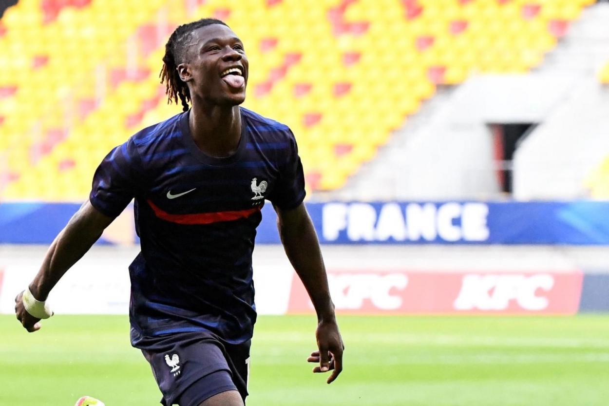 Camavinga celebrando su gol. | Foto: Camavinga