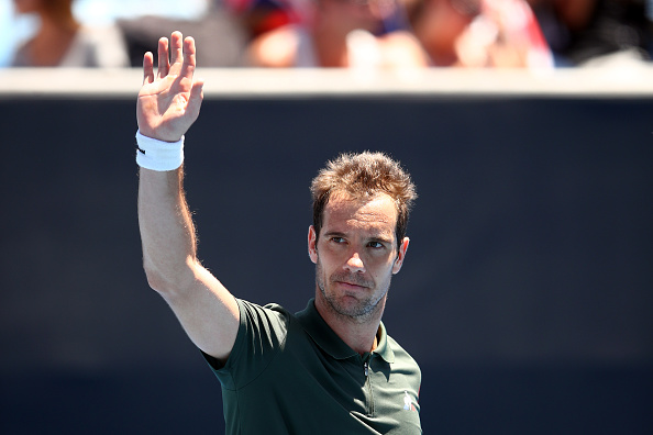 Richard Gasquet celebrates after his second round win over Carlos Berlocq (Getty/Cameron Spencer)