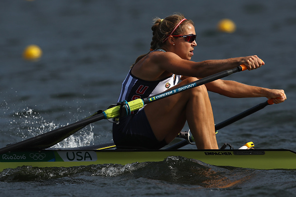 Gevvie Stone in action today (Getty/Cameron Spencer)