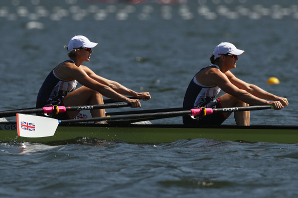 Katherine Grainger and Victoria Thornley in action (Getty/Cameron Spencer)