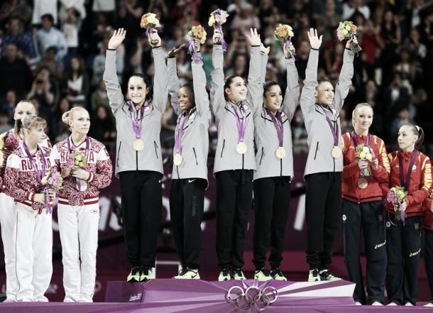 The medal podium in London. This year's will not be as predictable. Photo Credit: Cameron Spencer of Getty Images