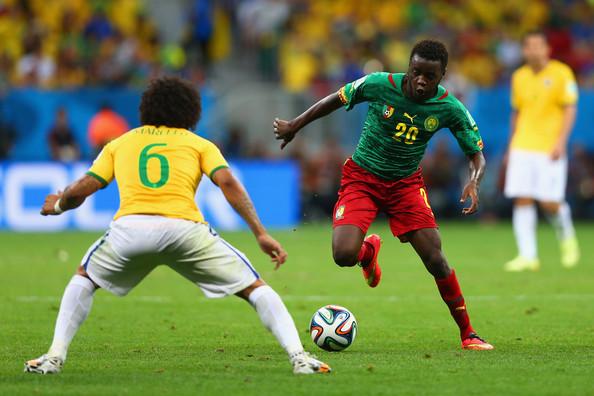 Salli taking on Brazil's Marcelo at the World Cup. | Photo: Zimbio