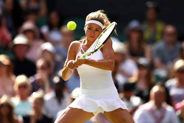 Camila Giorgi was firing on all cylinders in the opening set, showing no signs of nerves | Photo: Michael Steele/Getty Images Europe