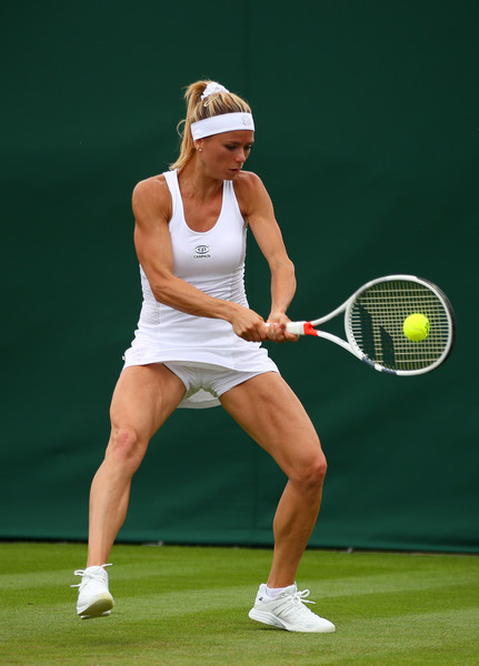 Although it was a good performance, Camila Giorgi was rather shaky and inconsistent today | Photo: Clive Brunskill/Getty Images Europe
