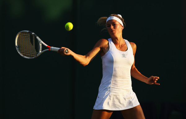 Camila Giorgi in action during the match | Photo: Michael Steele/Getty Images Europe
