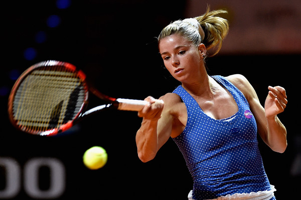 Camila Giorgi in action at the Stuttgart Open last year | Photo: Dennis Grombkowski/Bongarts
