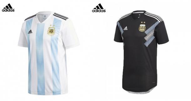 Camisetas titular y suplente de Argentina | Foto: Adidas.