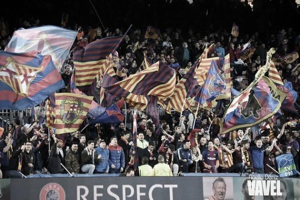 Afición del Barcelona en el Camp Nou | Foto: Noelia Déniz - VAVEL