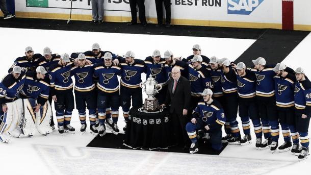 Los Blues campeones título Conferencia Oeste Clarence Campbell | Foto: NHL.com