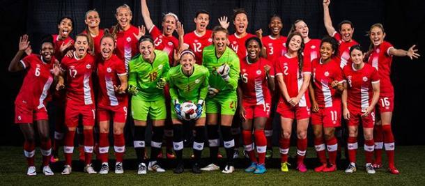 The 2016 team that went on to participate in the quarterfinals of the 2016 Rio Olympics | Source: Canada Soccer