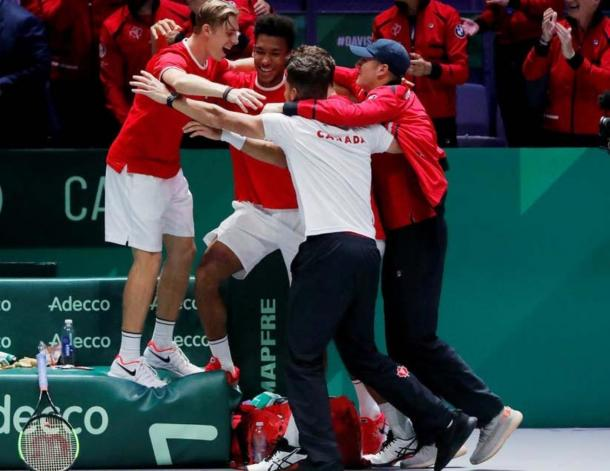 Canadá, finalista de la Copa Davis en 2019 y cabeza de serie en la presente edición. Imagen: Davis Cup.