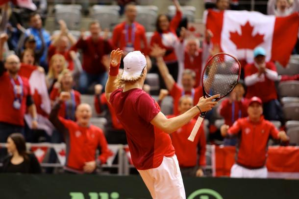 Shapovalov fires up the Canadian contingent in Osijek. Photo: Tennis Canada