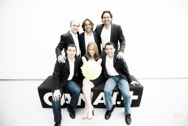 Tati Rascón y el equipo de Movistar +