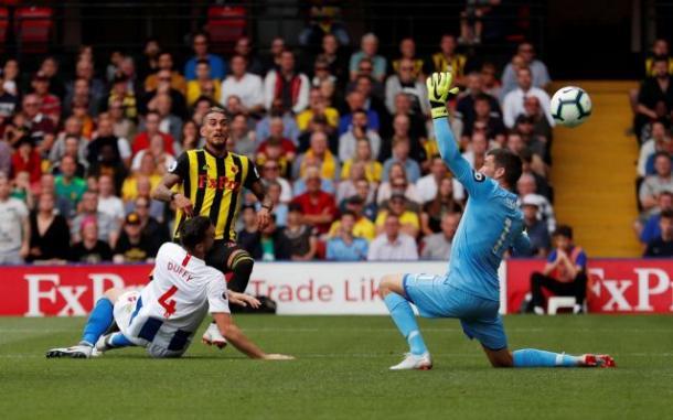 """Segundo gol del """"tucu"""" Pereira / Foto: Action Images"""