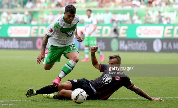 Vieirinha descobriu, com sucesso, uma nova posição ao serviço do Wolfsburg