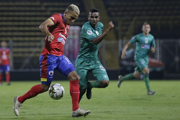 El último partido que se jugó en este 2020, fue el empate entre La Equidad y Deportivo Pasto el martes 10 de marzo; el marcador: empate 1-1. Imagen: Colprensa.