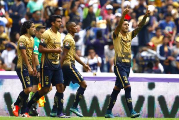 (Ismael Sosa festejando el gol contra Tigres | Foto: Noticias MVS)