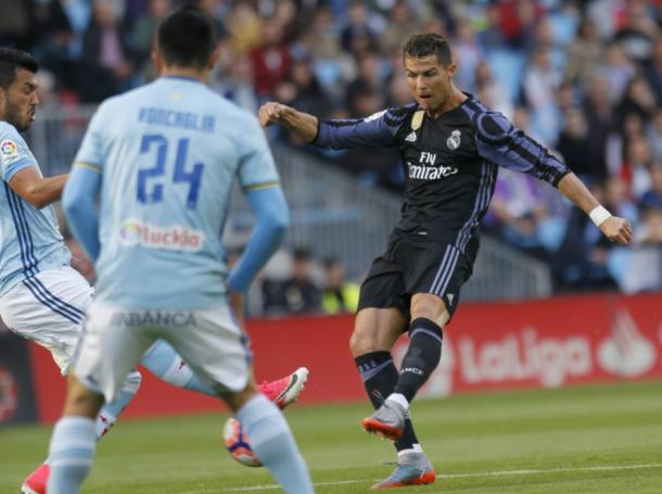 Cristiano Ronaldo en Balaídos/ FOTOGRAFÍA: Liga Santander.
