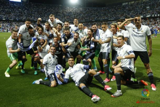 El Real Madrid celebra el campeonato de Liga/ FOTOGRAFÍA: LFP.