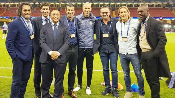 Leyendas del Real Madrid mostrando su apoyo al equipo/ FOTOGRAFÍA: Real Madrid.