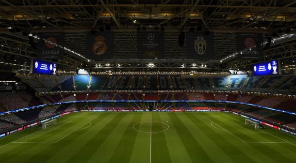Así se encuentra el Estadio Nacional de Cardiff/ FOTOGRAFÍA: Liga de Campeones.
